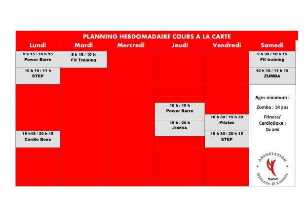 PLANNING HEBOMADAIRE COURS A LA CARTE-1